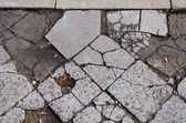 Régi városi beton járda háttér
