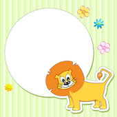 Lion on Baby Card