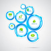 Illustration of colorful web design bubble template