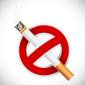 Illustration of no smoking sign with cigarette