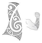 Maorský tetování design