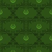 Seamless floral pattern vector illustration in green