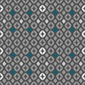 Seamless retro pattern vector illustration in greys blue & white