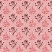 Seamless floral paisley pink vintage pattern tile