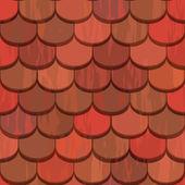 Nahtlose roten Ton-Dachziegel