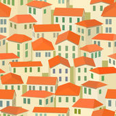 Seamless red roof of old Mediterranean town