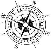 Grunge vektoros iránytű