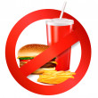 thumbnail of Fast food danger label. Vector illustration.