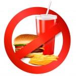thumbnail of Fast food danger label. Vector illustration.