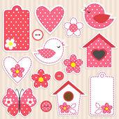 Vector scrapbook elementi - set di amore