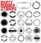 Empty Grunge Rubber Stamps - vector illustration
