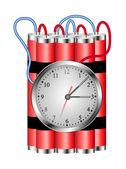 Vybuchne časovaná bomba je propojen s hodinami