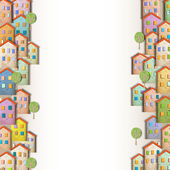 Borders of colorful homes made from old paperCreative vector eps 10