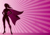 Super heroine over grunge background with copy space No transparency used Basic (linear) gradients A4 proportions
