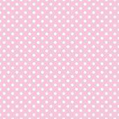 Puntíky na baby růžové pozadí retro bezešvá vektorová vzor