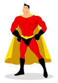 Stock vector of a posing superhero