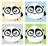 Cute big-eyed panda Vector illustration