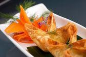 Thajské krabí smetanový sýr wontons předkrm