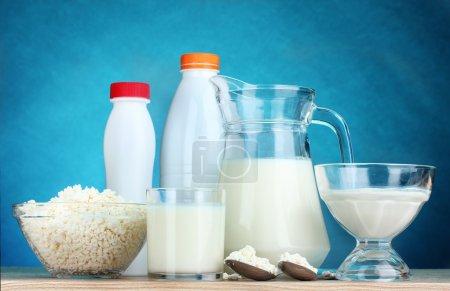 Постер, плакат: Milk products, холст на подрамнике