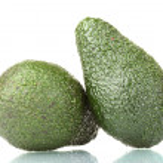 thumbnail of Two ripe avocado fruits isolated on white