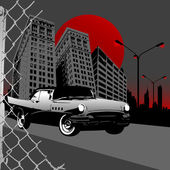 Abstract classic car