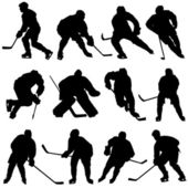 Ice hockey vector set