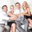 thumbnail of Friends toasting with champagne