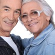 thumbnail of Close-up shot of an elderly couple