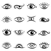 Eye design set vector