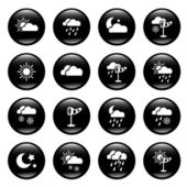 Set of 16 weather icons