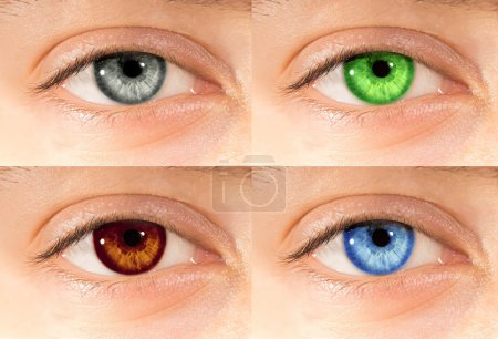 Colored eyes