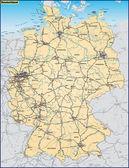 Deuschland mit Nachbarländern als Umgebungskarte in orange