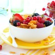 thumbnail of Corn flakes with fruits  and milk