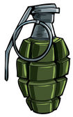 Cartoon drawing of a hand grenade Isolated