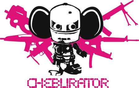 Постер, плакат: Cheburator, холст на подрамнике