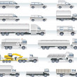 thumbnail of Vector transportation icon set. Trucks and vans
