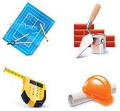 Construction résidentielle & rénovation icon set vector. Partie 3