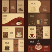 Coffee Business Card Templates (8 set)