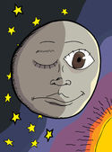 Dual personality of the moon in outer space