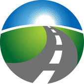 Illustration drawing of highway logo with isolated background
