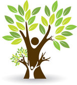 Illustration art of a family tree with isolated background