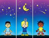 Children looking at the stars