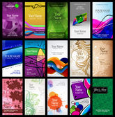 Variety of 15 vertical business cards on different topics eps 10