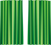 A large vector theater curtain in green colors