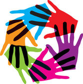Abstract hands made in adobe illustrator