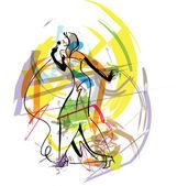 Singer sketch illustration made in adobe illustrator
