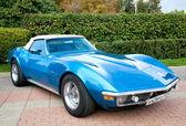 Klasické staré auto modré