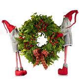 Karácsonyi koszorú manók szállított