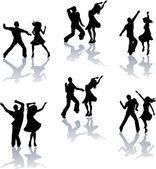 Salsa taneční siluety