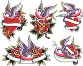 Vlaštovka tetování design
